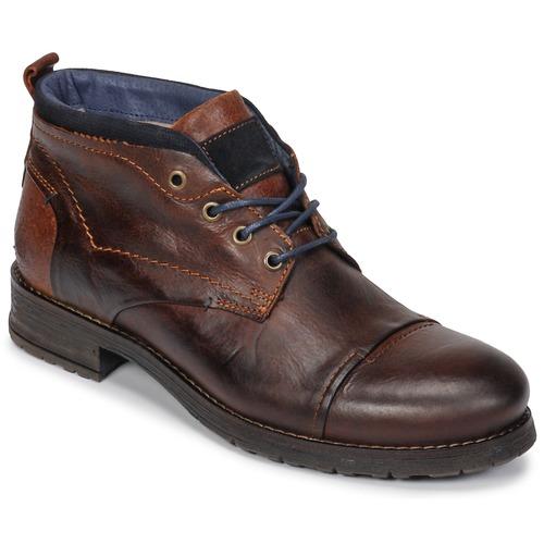 Shoes Men Mid boots Casual Attitude JABILON Brown