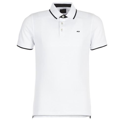 Clothing Men Short-sleeved polo shirts Jack & Jones JJEPAULOS White