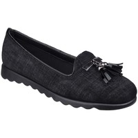 Shoes Women Loafers The Flexx Chantal Lino Womens Casual Loafer black