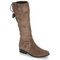 Shoes Women High boots André POLKA Taupe