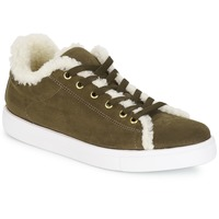 Shoes Women Low top trainers André AWASSI Kaki