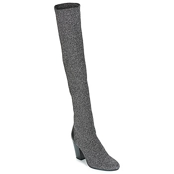 Shoes Women Thigh boots André CATWALK Silver