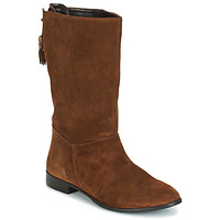 Shoes Women High boots André LOULOUTE Camel