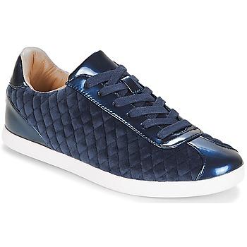 Shoes Women Low top trainers André VELVET Blue