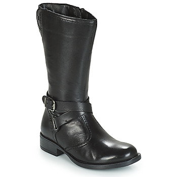 Shoes Girl High boots André HIVER Black