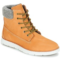 Shoes Boy Mid boots André TROTTEUR Brown / Yellow
