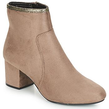 Shoes Women Mid boots André FALOU Beige