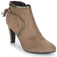 Shoes Women Mid boots André AUREL Beige