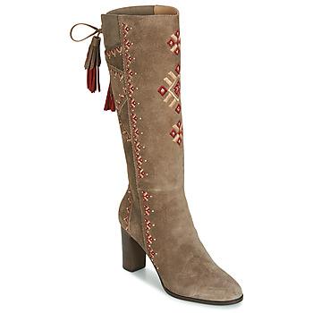 Shoes Women High boots André TATIANA Beige