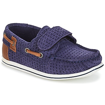 Shoes Boy Boat shoes André LES CAILLOUX Marine