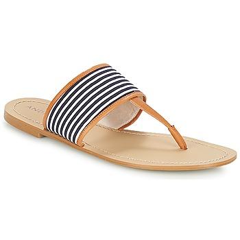 Shoes Women Flip flops André JERSEY Striped / Blue