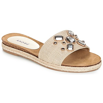 Shoes Women Mules André LUCKY Ecru