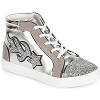 Shoes Women Hi top trainers André LOTUS Silver