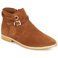 Shoes Women Mid boots André IDAHO Camel