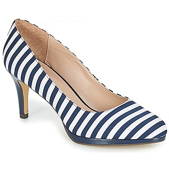 94db04d6ad4 Shoes Women Heels André CRYSTAL Striped   Blue