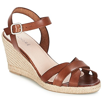 Shoes Women Sandals André QUIBERON Brown