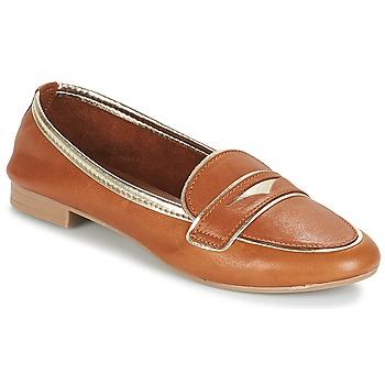 Shoes Women Loafers André CLOCHETTE Camel