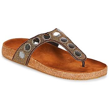 Shoes Women Flip flops André PANDORE Brown