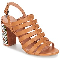Shoes Women Sandals André DJEMBE Cognac