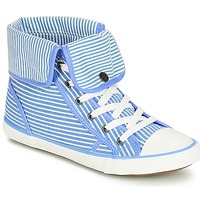 Shoes Women Hi top trainers André GIROFLE White / Blue