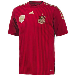 Clothing short-sleeved t-shirts adidas Originals 2014-15 Spain Home World Cup Football Shirt (Kids) Red