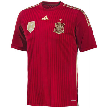 Clothing short-sleeved t-shirts adidas Originals 2014-15 Spain Home World Cup Football Shirt Red