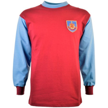Clothing Long sleeved tee-shirts Toffs Burnley 1960s Retro Football Shirt Maroon