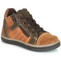 Shoes Boy Hi top trainers Citrouille et Compagnie JESSICA Camel