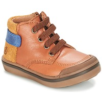 Shoes Boy Mid boots Citrouille et Compagnie JOUIZAE Camel / Yellow