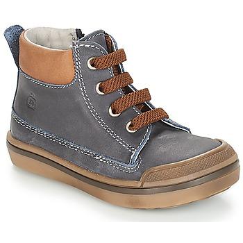 Shoes Boy Mid boots Citrouille et Compagnie JIK Blue / Cognac