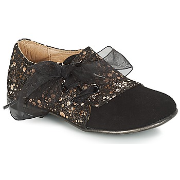 Shoes Girl Derby Shoes Citrouille et Compagnie JETTRA Black / Bronze