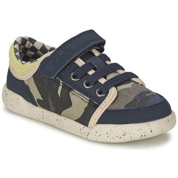 Shoes Children Low top trainers Clarks Kintor GO Inf Green-Navy blue