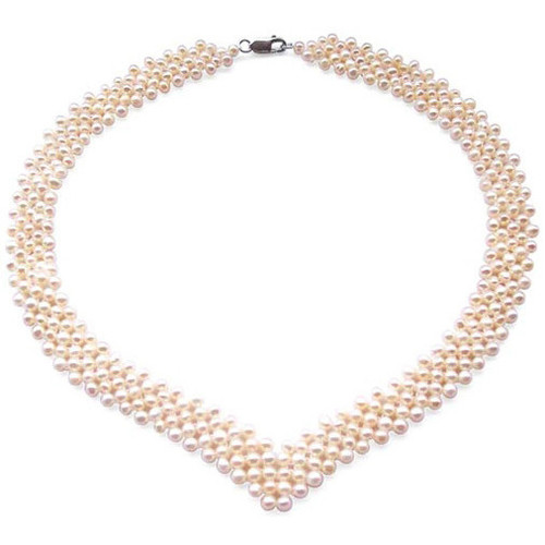 Watches Women Necklaces Blue Pearls White or Black Freswater Pearl 5 rows Necklace and 925 Silver White