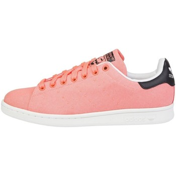 Shoes Men Low top trainers adidas Originals Stan Smith White-Pink