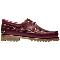 Shoes Men Boat shoes Timberland Authentics 3-Eye Classic Lug purple