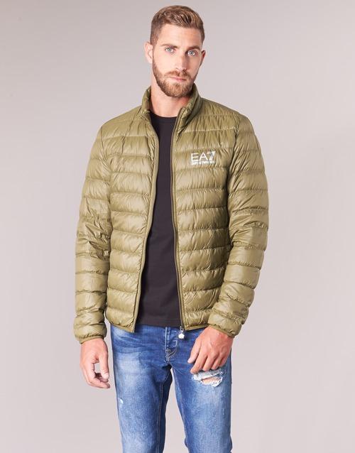 Clothing Men Duffel coats Emporio Armani EA7 TRAIN CORE ID M DOWN LIGHT Brown
