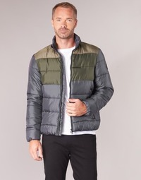 Clothing Men Duffel coats Emporio Armani EA7 MOUNTAIN M MEDIUM TRITONAL JACKET Black / Kaki