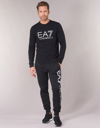 Clothing Men Tracksuit bottoms Emporio Armani EA7 TRAIN TRITONAL M PANTS CH BR Black / White