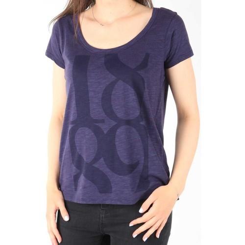 Clothing Women Short-sleeved t-shirts Lee T-Shirt  Scoop Mystic Plum 40KFL87 blue