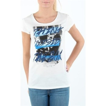 Clothing Women Short-sleeved t-shirts Lee T-shirt Damski SLIM T CLOUD DANCER L41MEVHA white