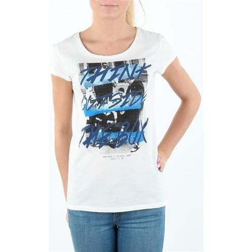 Clothing Women short-sleeved t-shirts Lee T-shirt Damski SLIM T CLOUD DANCER L41MEVHA white