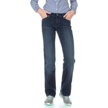 Clothing Women straight jeans Wrangler Sara W212QC818 navy