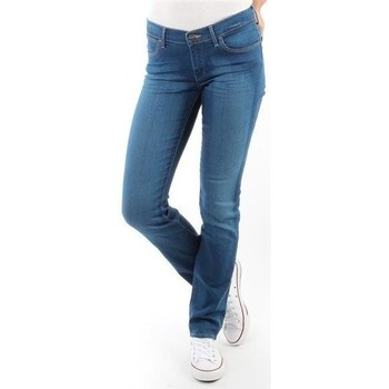 Clothing Women straight jeans Wrangler Spodnie Damskie  Drew 24S3456I FIRST MATE blue