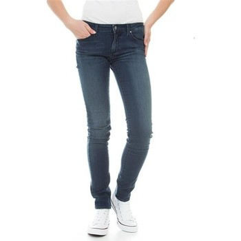 Clothing Women Skinny jeans Wrangler Molly River Washed W251ZB33T blue