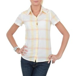 Clothing Women Shirts Wrangler Sammy S/S Shirt W5021SXCU yellow