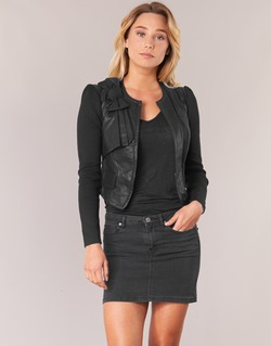 Clothing Women Leather jackets / Imitation leather Morgan VUIR Black