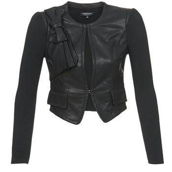 Clothing Women Leather jackets / Imitation leather Morgan VUIR Black