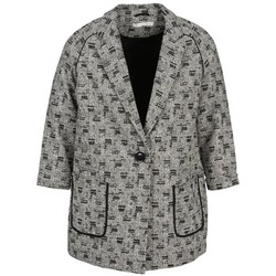 Clothing Women coats See U Soon CARA Black / White