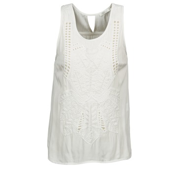 Clothing Women Tops / Sleeveless T-shirts See U Soon CHELSEA White / Grey