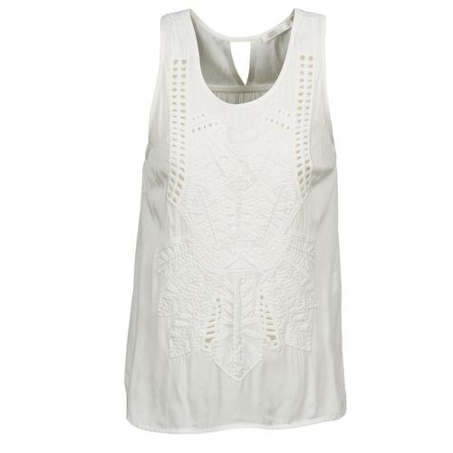 Clothing Women Tops / Sleeveless T-shirts See U Soon CHELSEA White / Grey